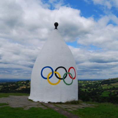 White Nancy with Olympic Rings