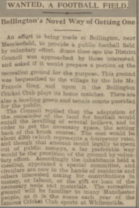 Newspaper clip from 1914