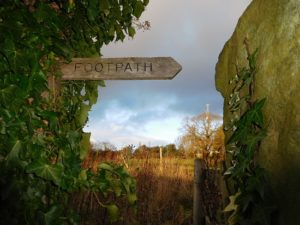 Footpath Way marker