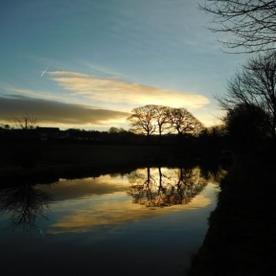 Sunrise over the canal