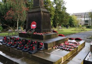 Army boots on the Memorial