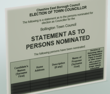 Statement Persons Nominated