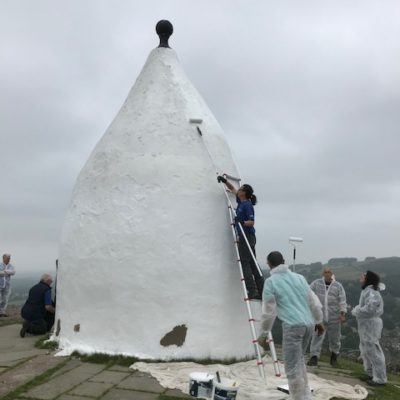 White Nancy Being Painted