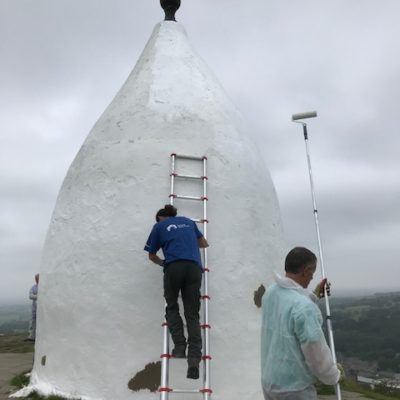 White Nancy Being Painted 2