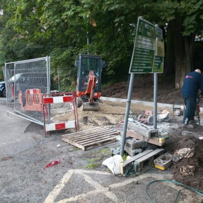 Foundations being laid at Pool Bank